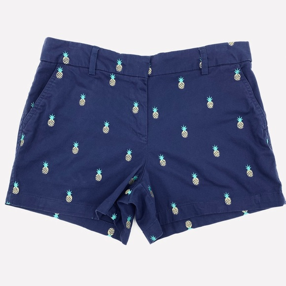Cambridge Embroidered Pineapples Shorts